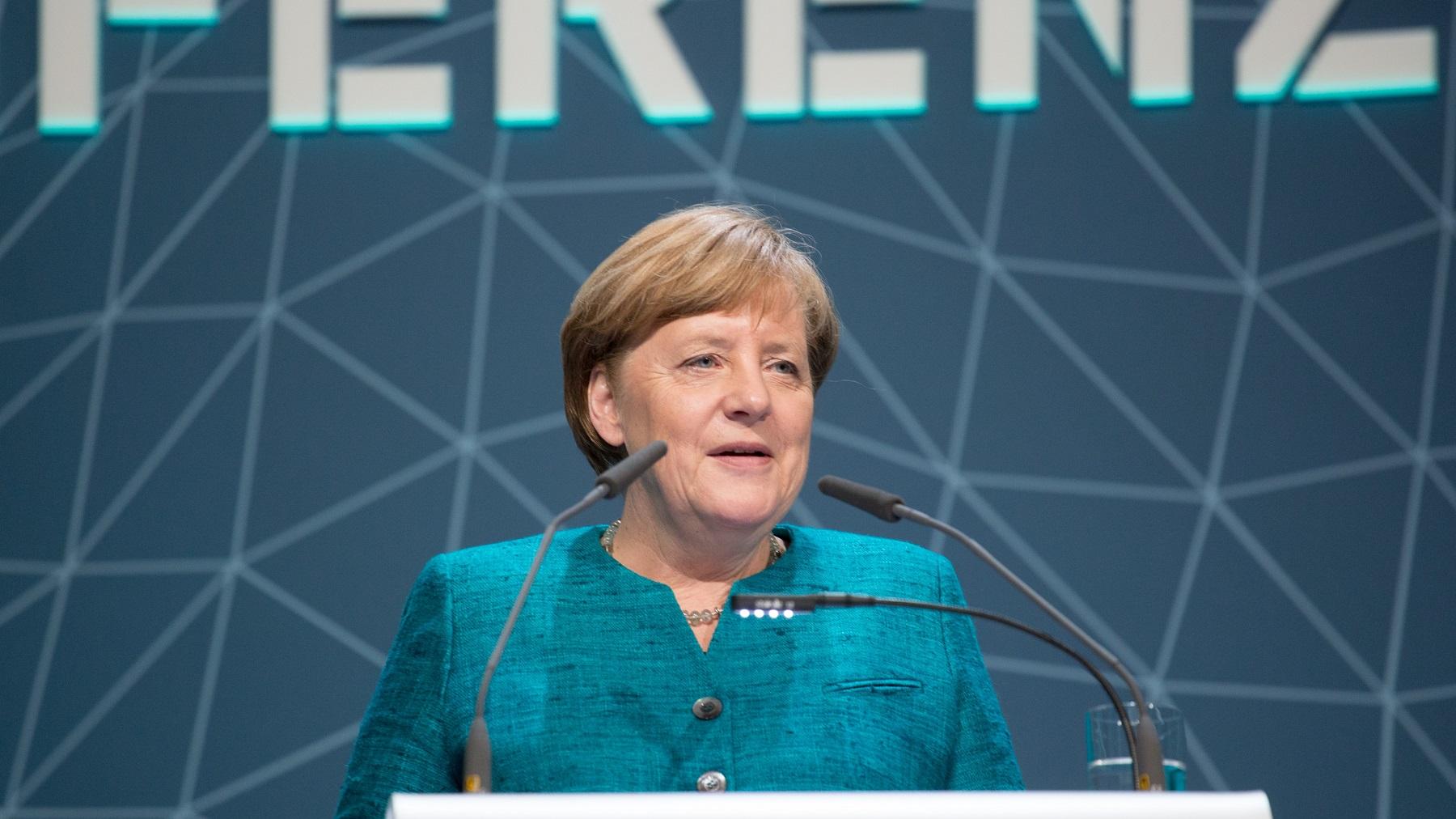 Angela Merkel 2017 - International Maritime Organization - IMO at German National Maritime Conference - CC BY 2.0