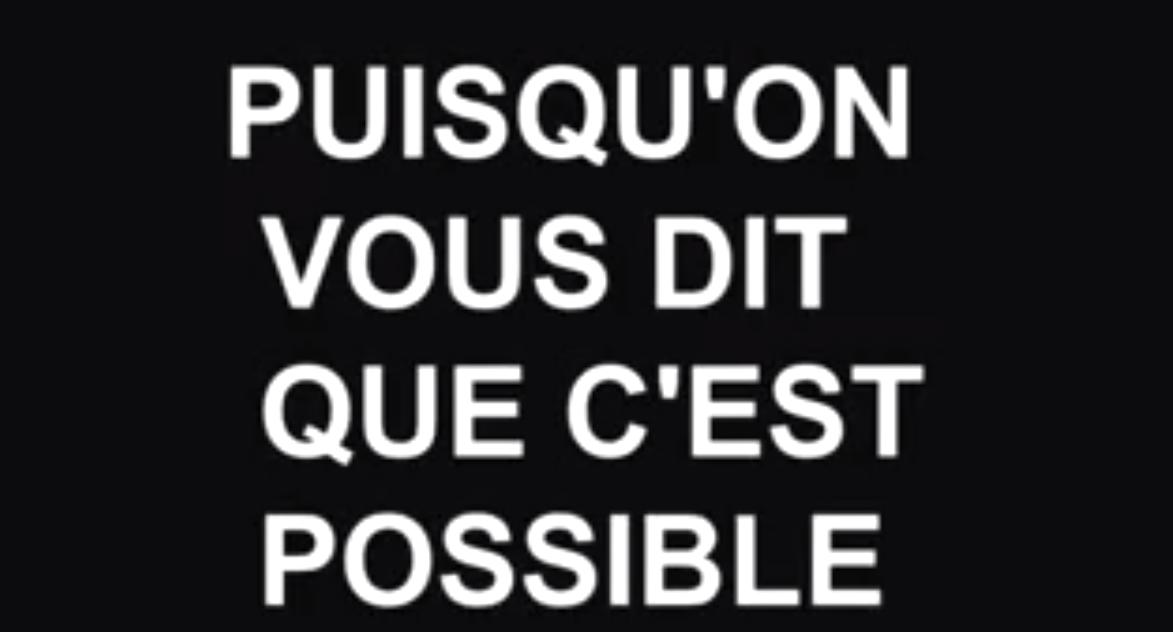 """Dokumentarfilm """"Puisqu'on vous dit que c'est possible"""" (Screenshot; Labournet.tv)"""