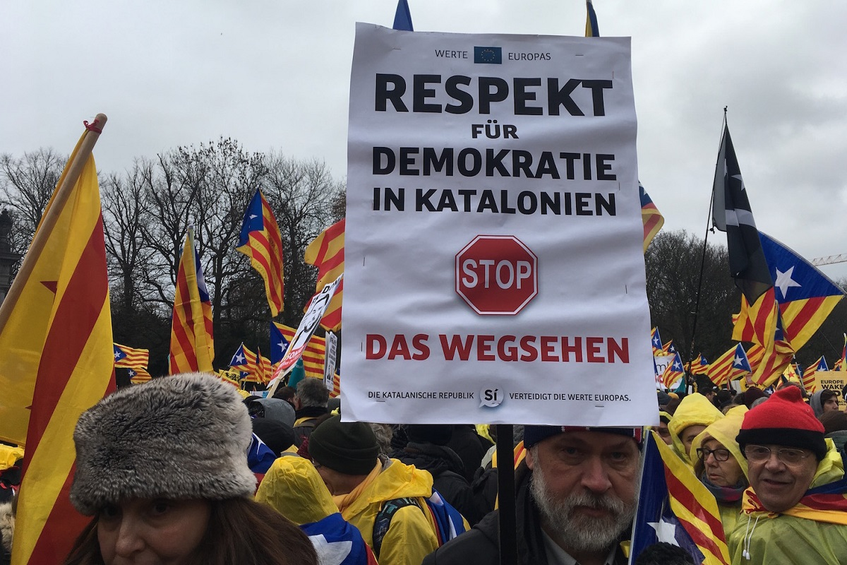 Katalanische Demo in Brüssel. (Foto: Krystyna Schreiber)