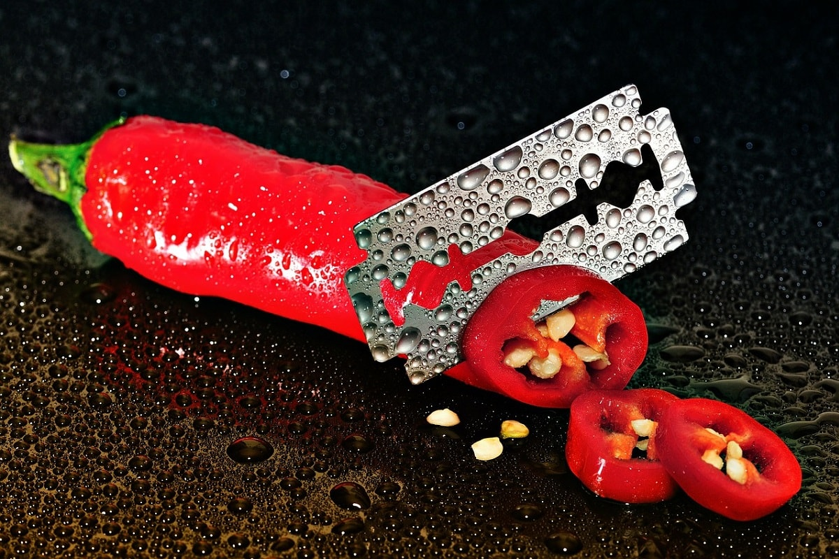 Pepperoni und Rasierklinge. (Foto: WernerB Pixabay.com;Creative Commons CC0)