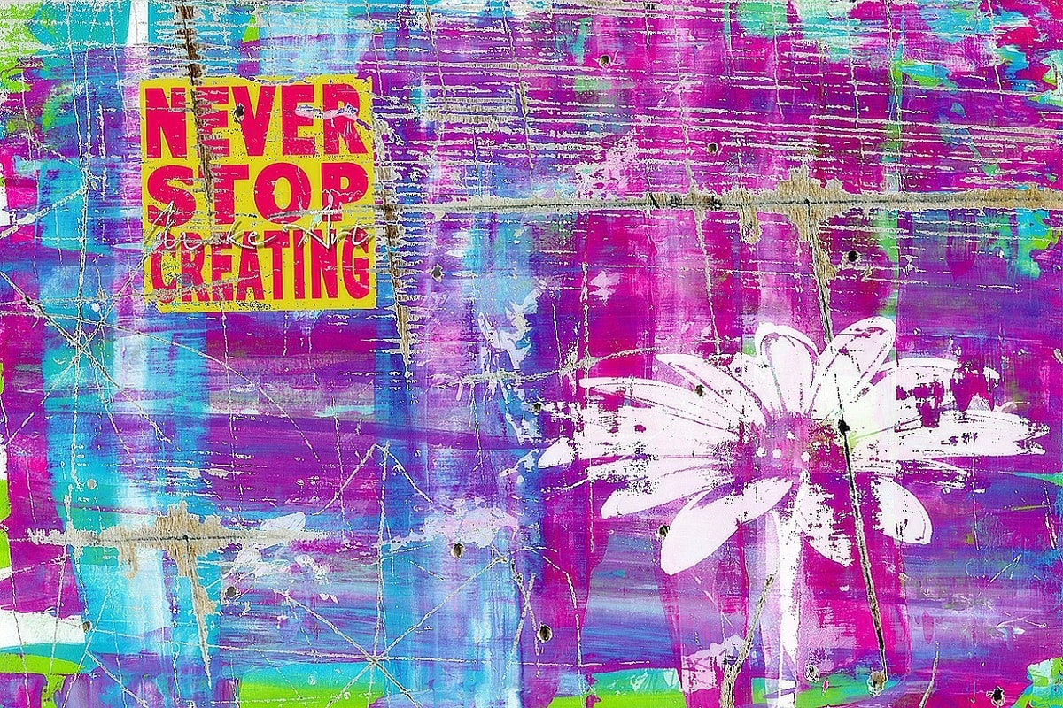 Never stop creating. (Foto: ShonEjai, Pixabay.com, Creative Commons CC0)