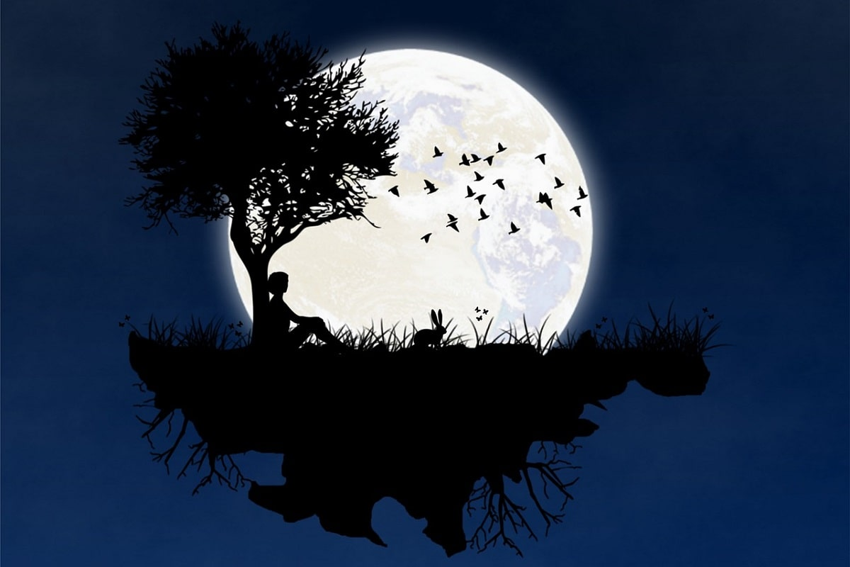 Mond und Ruhe. (Illustration: vct310, Pixabay.com, Creative Commons CC0)