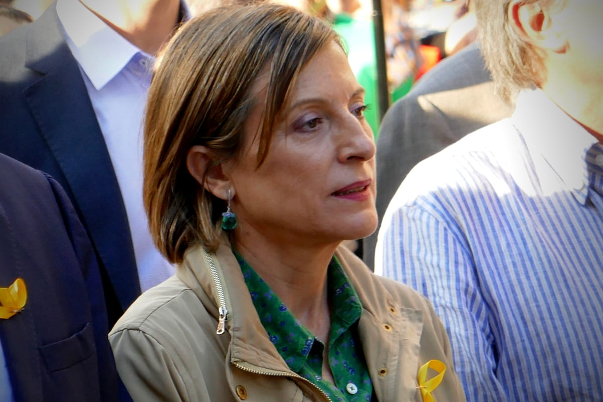 Protest Parliamentary Speaker 2017 with Maria Carme Forcadell i Lluís. (Image: Krystyna Schreiber)